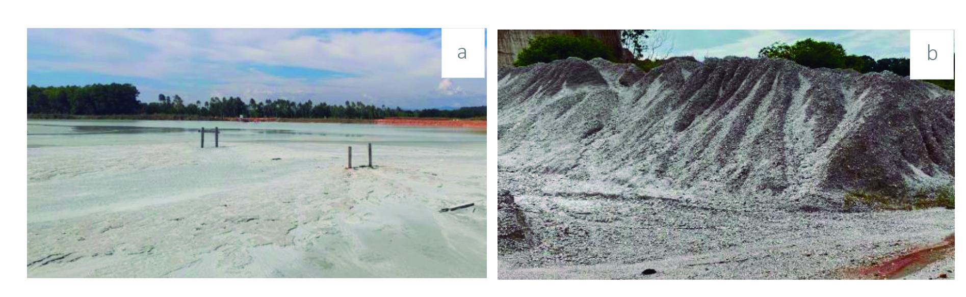 Zonas muestreadas de relaves mineros y suelos degradados. Bajo Cauca Antioqueño en el sector de la construcción.
